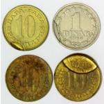 SFR Jugoslavija 10 par  & 1 Dinar 1965/1980 - Kovne napake