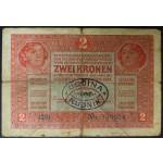 2 Kroni 1917 - žig OBČINA RUDNIK