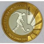 SLOVENIJA 500 tolarjev 2002 Proof - Svetovno prvenstvo v nogometu.