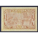1/4 dinarja 1921 - XF+