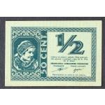 1/2 lire 1944 - aUNC