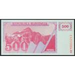 500 tolarjev 1990 - AB - UNC