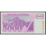 5000 tolarjev 1992 - DA - UNC