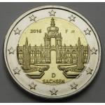 NEMČIJA 2€ 2016 - Saxony - Dresden  - (A,D,F,G,J )