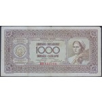 1000 dinarjev 1946 F (brez nitke)