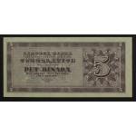 5 dinarjev 1950 - UNC