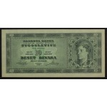 10 dinarjev 1950 - UNC