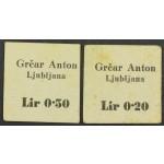 0,20 in 0,50 Lir - Grčar Anton - Ljubljana - REDKO!!!