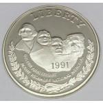 ZDA 1 dolar 1991 - MOUNT RUSHMORE 50TH ANNIVERSARY