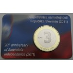SLOVENIJA 3€ 2011 PROOF - kartica