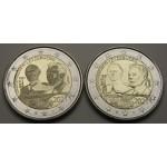 LUKSEMBURG 2€ 2021 - 100. rojstni dan velikega vojvode Jeana - 2 kovanca