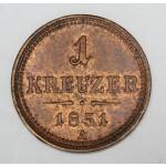 AVSTRIJA 1 Kreuzer 1851 A