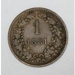 AVSTRIJA 1 Kreuzer 1881