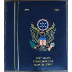 ZDA 25 Cents 1999/2009 - Statehood Quarters - Zbirka 112 kovancev v albumu