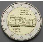 MALTA 2€ 2018 - Mnajdra Temple