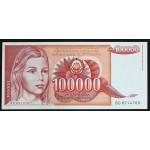 100000 dinarjev 1989 - UNC