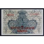 1/2 dinarja / 2 kroni  1919 - XF/aUNC