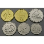 FIJI 5 Cents / 2 Dollars 2012  - Lot 6 kovancev - UNC