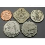 BAHAMI 1 Cent / 50 Cents 2005/2016 - Lot 5 kovancev - UNC