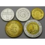 EGIPT 5 Piastres / 1 Pound 2004/2008 - Lot 5 kovancev - UNC
