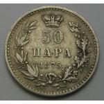 SRBIJA 50 para 1875