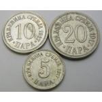 SRBIJA 5, 10, 20 Para 1917