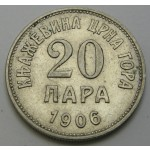 ČRNA GORA 20 para 1906