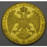 JUGOSLAVIJA (Kraljevina) 4 dukati 1931 - žig meč - XF