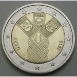 ESTONIJA 2€ 2018 - 100 years of the Baltic States