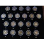 2€ 2012 - 10 LET EVRO GOTOVINE - Komplet 21 kovancev v škatli.