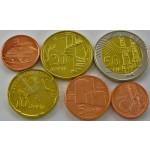 AZERBAJDŽAN 1 Qapik / 50 Qapik ND(2006-2011) - Lot 6 kovancev - UNC