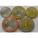 ANGOLA 50 Centimos / 20 Kwanzas 2011/2012 - Lot 5 kovancev - UNC
