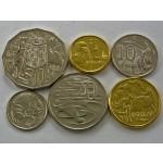 AVSTRALIJA 5 Cents / 2 Dollars 2011/2012 - Lot 6 kovancev - UNC