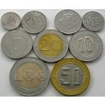 ALŽIRIJA 1/4 Dinar / 100 Dinars 1992/2018 - Lot 9 kovancev - UNC