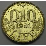 SLOVENIJA 0.10 Lipe 1991