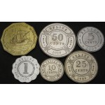 BELIZE 1 Cent / 1 Dollar 1989 / 2010 - Lot 6 kovancev - UNC