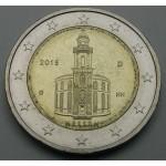 NEMČIJA 2€ 2015 - Cerkev Svetega Pavla v Frankfurtu - (A,D,F,G,J )