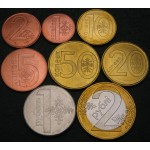 BELORUSIJA 1 Kopek / 2 Roubles 2009 - Lot 8 kovancev - UNC