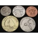 BERMUDA 1 Cent / 1 Dollar 2008 / 2009 - Lot 5 kovancev - UNC