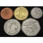 BARBADOS 1 Cent / 1 Dollar 2008 / 2012 - Lot 5 kovancev - UNC