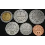 BOLIVIJA 10 Centavos / 5 Bolivianos 2004/2012 - Lot 6 kovancev - UNC