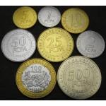 CENTRALNO AFRIŠKE DRŽAVE 1 Franc / 500 Francs 2006 - Lot 8 kovancev - UNC