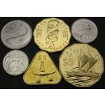 COOKOVI OTOKI 10 Cents / 5 Dollars 2015 - Lot 6 kovancev - UNC