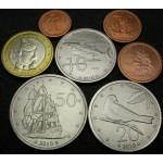 COOKOVI OTOKI 1 Cent / 1 Dollar 2010 - Lot 7 kovancev - UNC