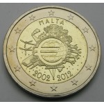 MALTA 2€ 2012 10 LET EVRO GOTOVINE