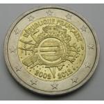 FRANCIJA 2€ 2012 10 LET EVRO GOTOVINE