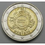 BELGIJA 2€ 2012 10 LET EVRO GOTOVINE