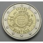 ŠPANIJA 2€ 2012 10 LET EVRO GOTOVINE