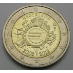 NIZOZEMSKA 2€ 2012 10 LET EVRO GOTOVINE