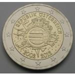 AVSTRIJA 2€ 2012 10 LET EVRO GOTOVINE